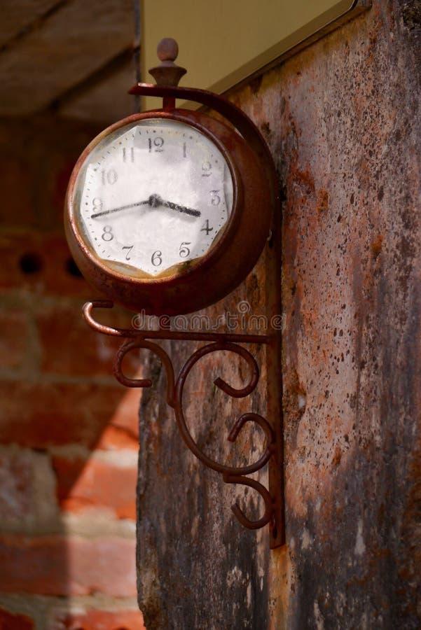 Clock, Wood, Antique, Metal stock image
