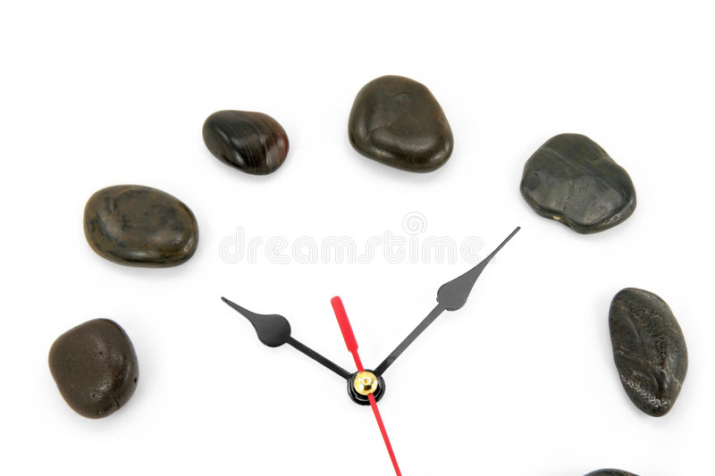Download Clockface en pierre image stock. Image du temps, mains - 2140229