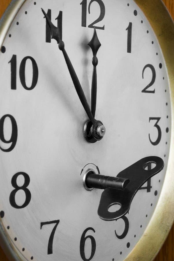 clockface klucz obraz stock