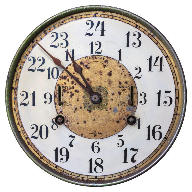 Clockface a principios de siglo 20 altamente adornado del siglo fotografía de archivo libre de regalías