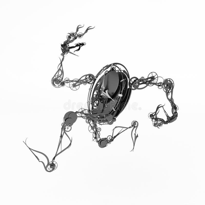 clockman τρέξιμο διανυσματική απεικόνιση