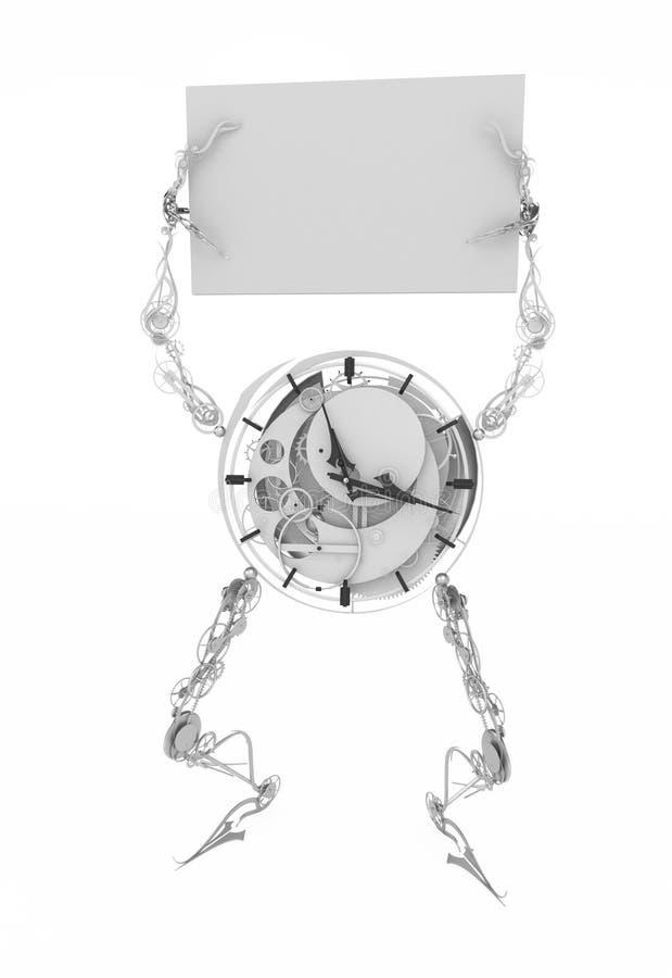 clockman szyldowy biel ilustracji