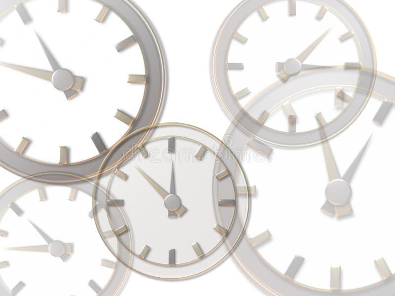 Clocks royalty free illustration