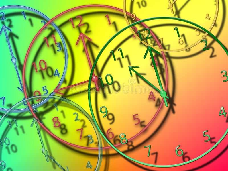 Clocks stock illustration