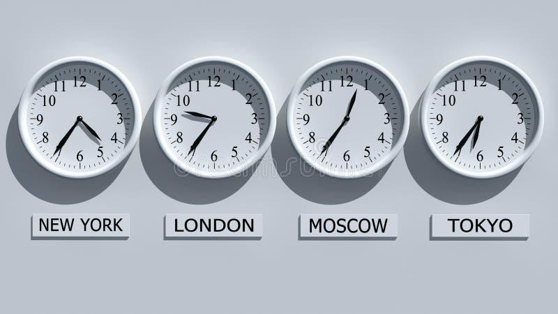Clocks stock illustration