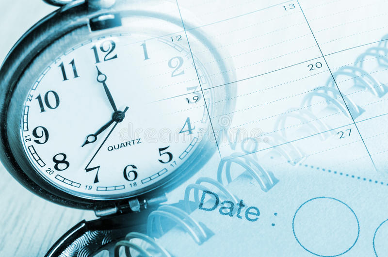 Clocks,calendar. stock images