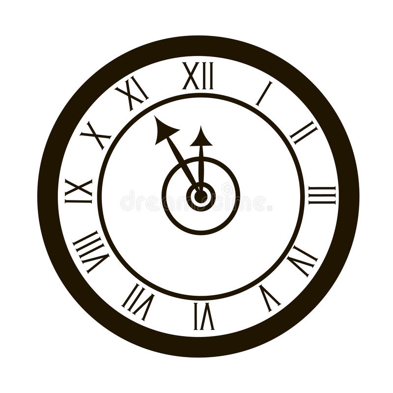 Clocks face dial watch alarm illustration. Clock face icon isolated white background. Clocks, watch silhouette. Old, retro,. Clocks face dial watch alarm vector illustration