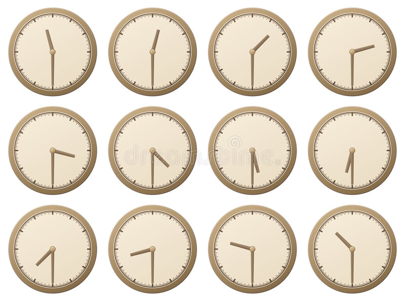 Download Clocks, half an hour stock vector. Image of collection - 3801635