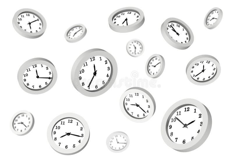 clocks många vektor illustrationer