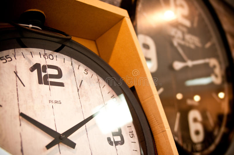 Clocks for sale royalty free stock photography
