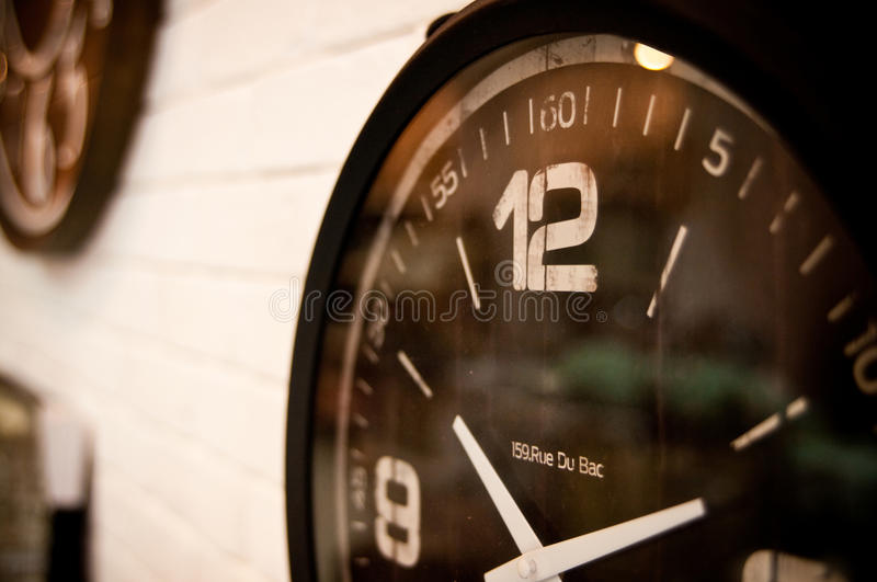 Clocks for sale royalty free stock image