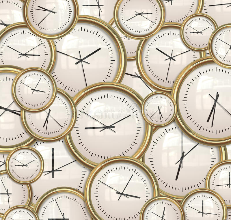 Clocks and time background royalty free illustration