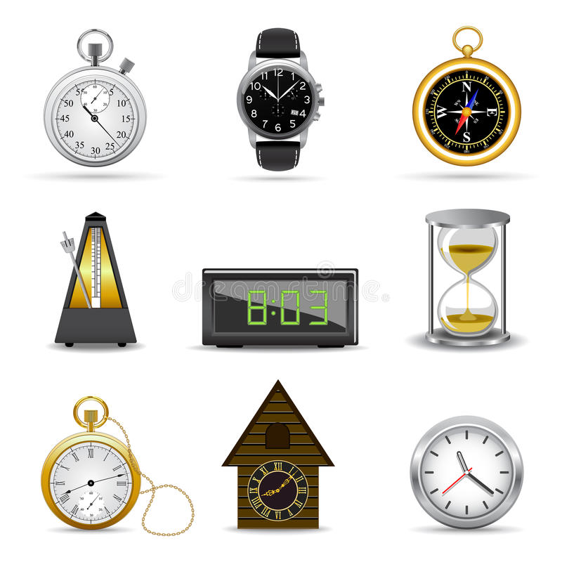 Download Clocks and timers stock vector. Image of clock, instrument - 11432017