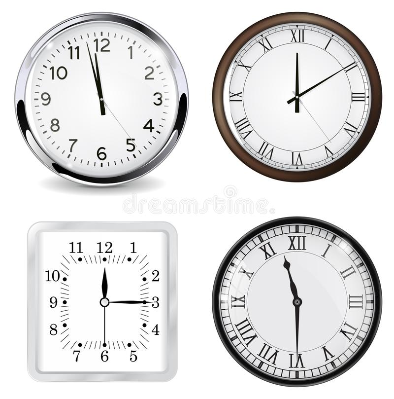 Clocks. Vector 3d illustration isolated on white background vector illustration