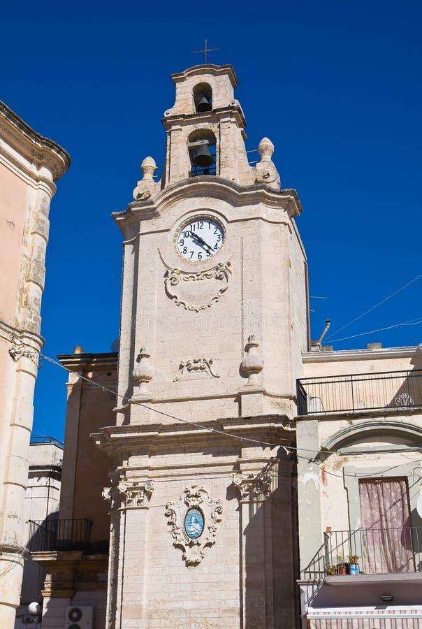 Clocktower。Massafra。普利亚。意大利。 免版税库存图片