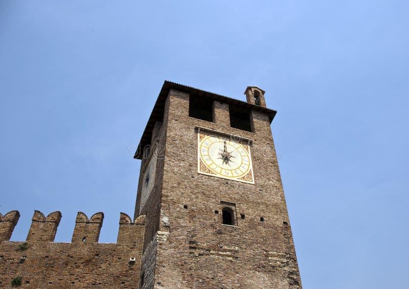 clocktower意大利维罗纳 库存照片