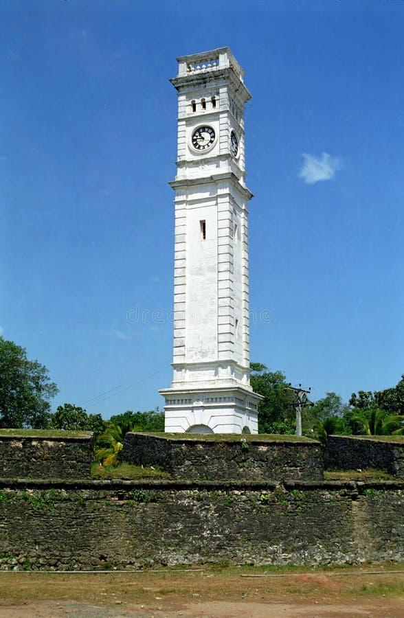Clocktower,马塔勒,斯里兰卡 免版税图库摄影