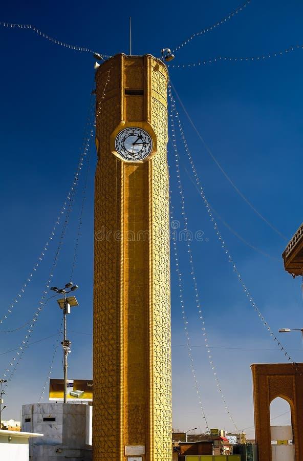 Clocktower of Abu Hanifa Mosque the in Baghdad Iraq. Clocktower of Abu Hanifa Mosque the in Baghdad, Iraq royalty free stock photos