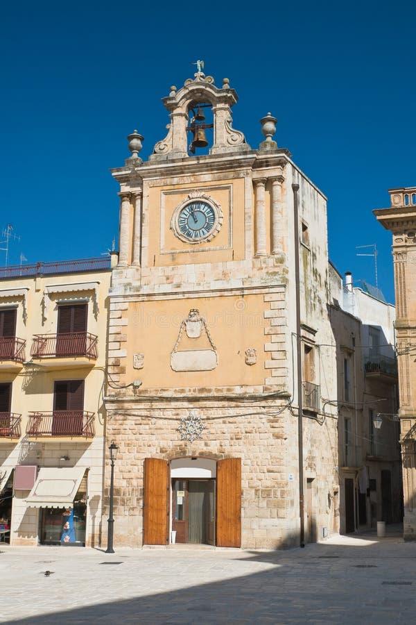 Clocktower Acquaviva delle Fonti 普利亚 意大利 图库摄影