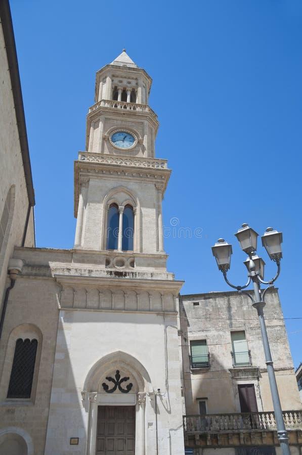 Clocktower. Altamura. Apulia. Civic Tower Clock. Altamura. Apulia royalty free stock images
