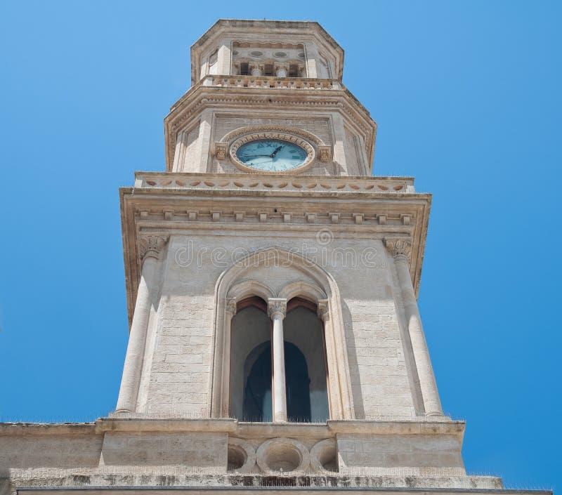Clocktower. Altamura. Apulia. Close up of Clocktower of Altamura. Apulia royalty free stock photos