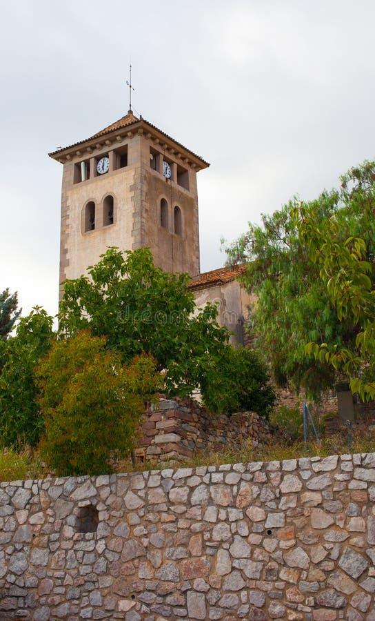 Clocktower della chiesa di Genis del san immagini stock libere da diritti