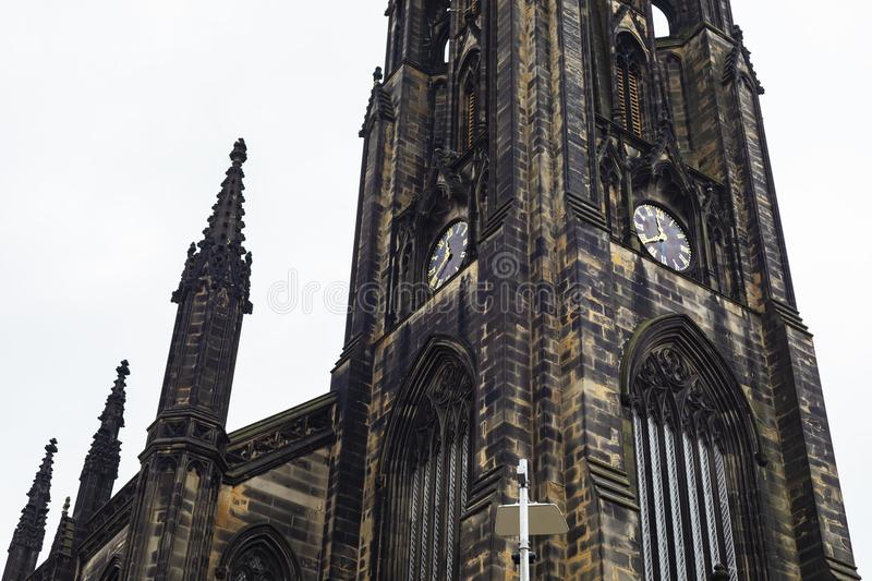 Clocktower der Nabe in Edinburgh stockfotos