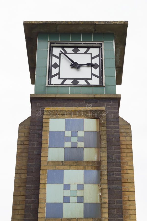 Clocktower of Falaise in Hastings stock photos