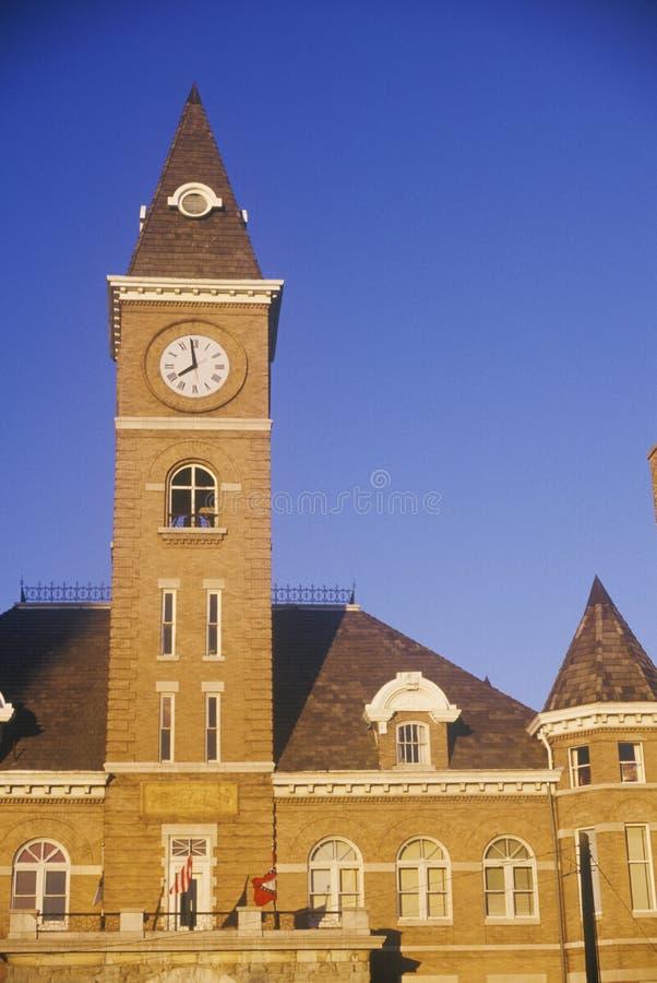 Clocktower no tribunal de condado de Washington imagem de stock royalty free