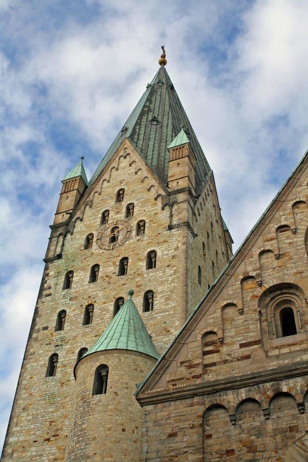 Clocktower, paderborn, Germania fotografie stock libere da diritti