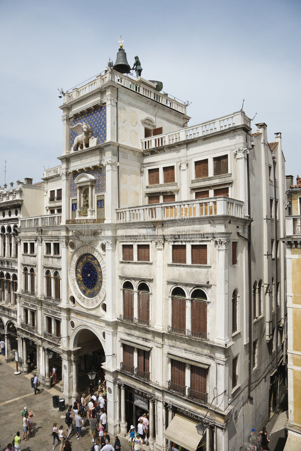 Clocktower in Piazza San Marco in Venice. royalty free stock image