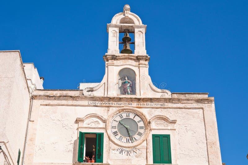 Clocktower Polignano en sto Puglia italy arkivbild