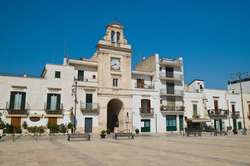 Clocktower Sammichele di Bari Puglia italy royaltyfria foton