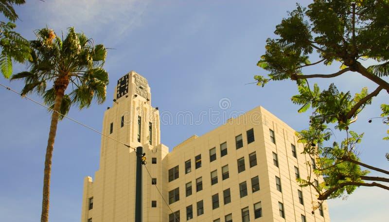 Clocktoweren Santa Monica fotografering för bildbyråer