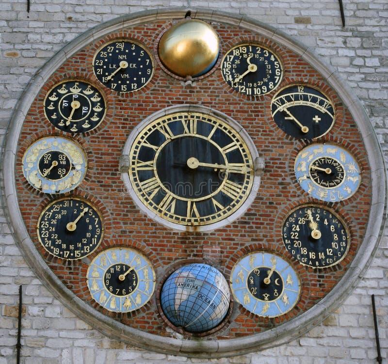 Clockworcks astronomiques photographie stock
