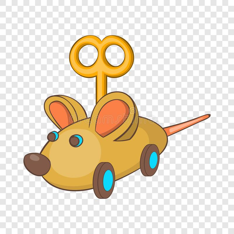 Значок мыши Clockwork, стиль мультфильма иллюстрация штока