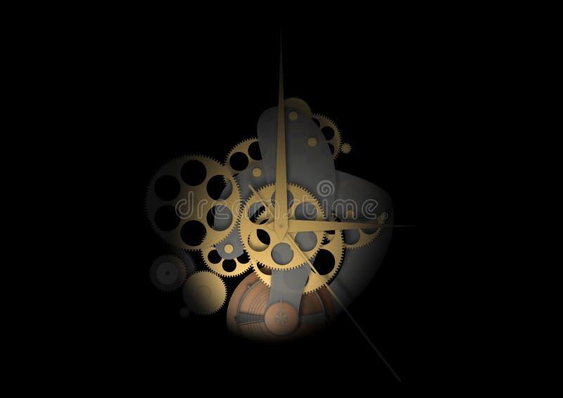 clockwork предпосылки черный иллюстрация штока