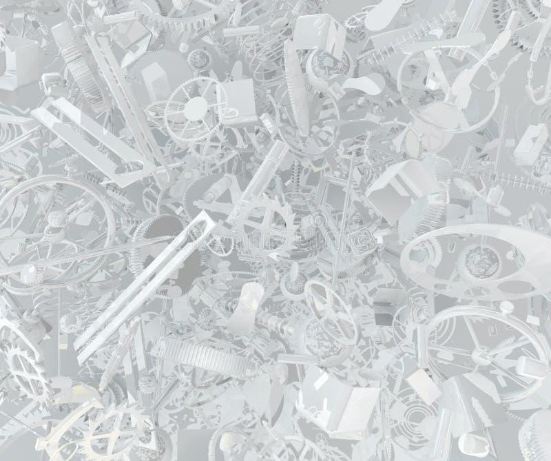 Clockwork разделяет абстрактную белизну бесплатная иллюстрация