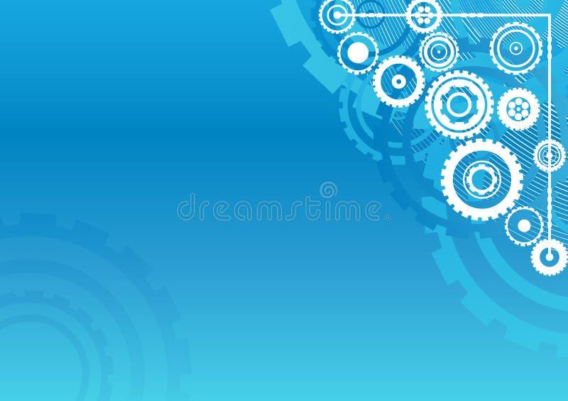 clockwork сини предпосылки иллюстрация вектора