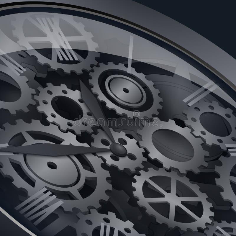 Clockwork с шестернями иллюстрация вектора