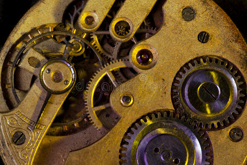 Download Clockwork stock image. Image of springs, stains, macto - 20753853