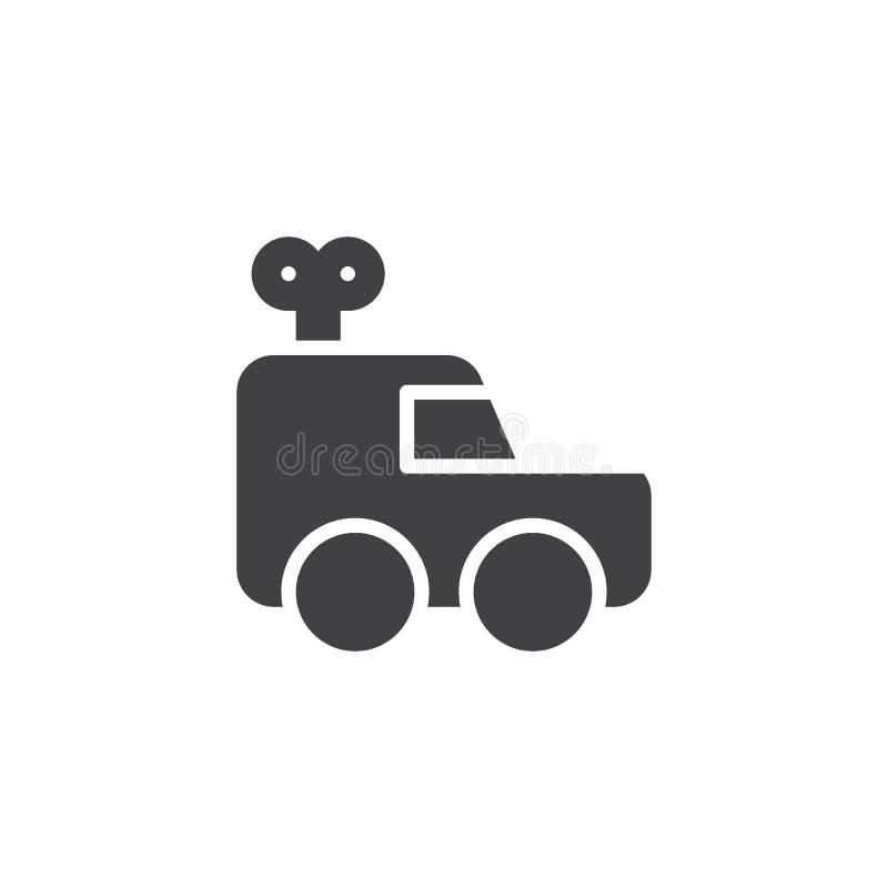 Clockwork car vector icon stock illustration
