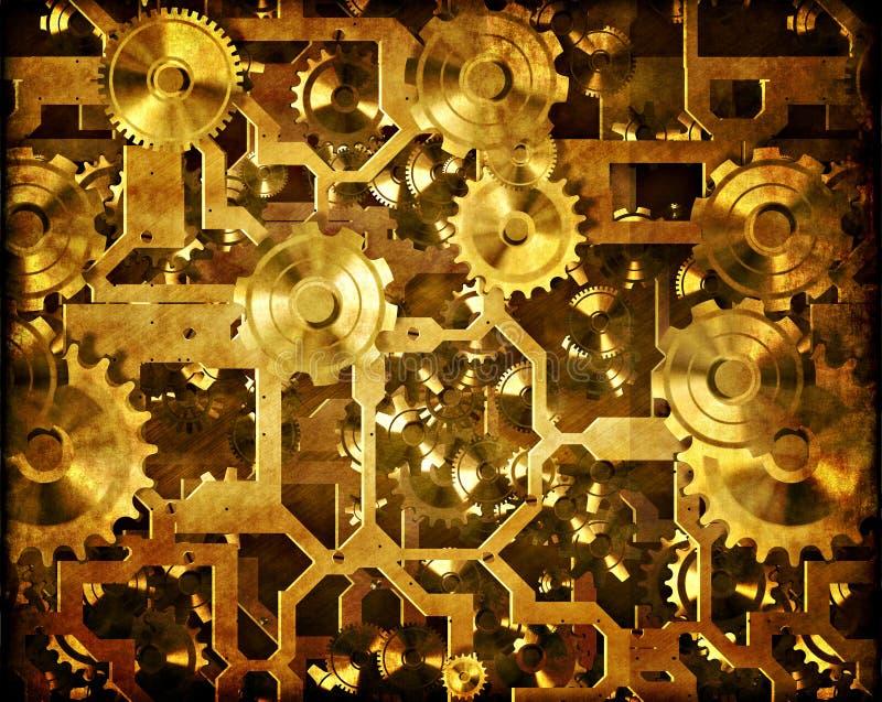 clockwork cogs maszynerii steampunk royalty ilustracja