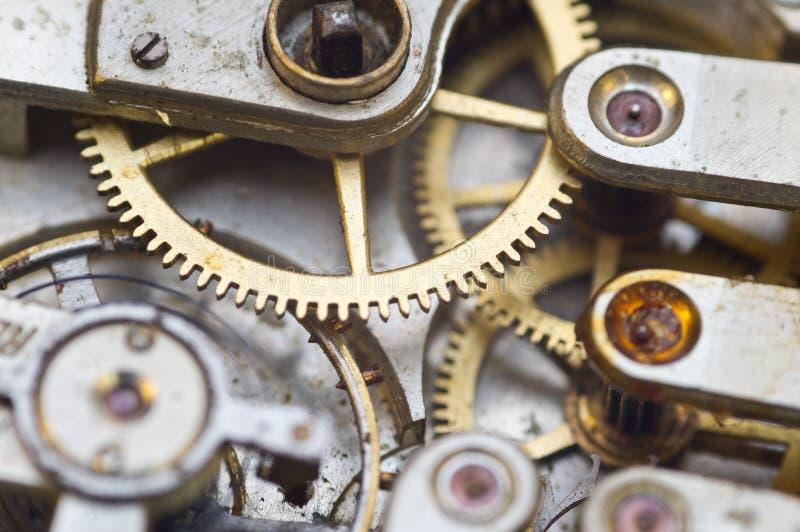 Clockwork, gears in an old watch. Teamwork concept, idea, technology, eternity, business. Macro. Clockwork, gears in an old watch. Teamwork concept idea royalty free stock photography