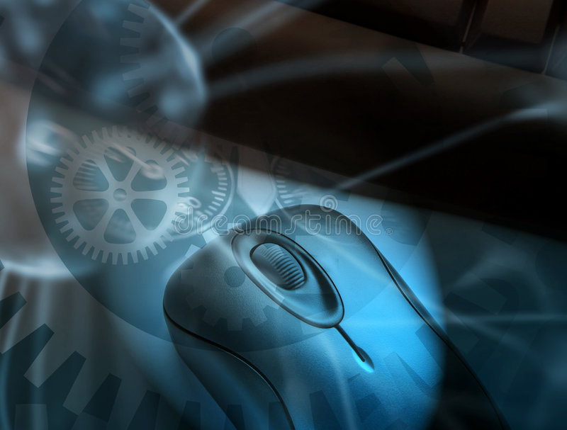 clockwork komputer royalty ilustracja