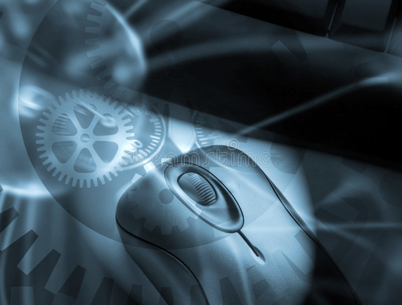 clockwork komputer ilustracji