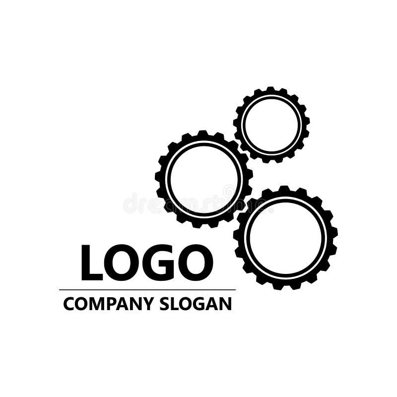 Clockwork logo vector. gear logo vector. stock illustration