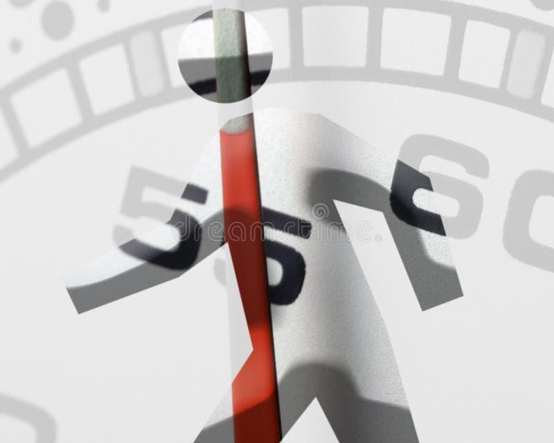 Clockwork man stock photo