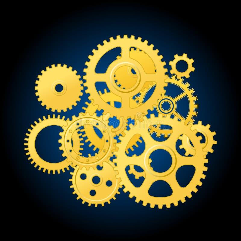 Download Clockwork mechanism stock vector. Illustration of gearing - 23669301