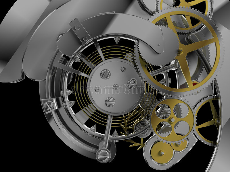 Download Clockwork mechanism stock illustration. Image of chrome - 8014912